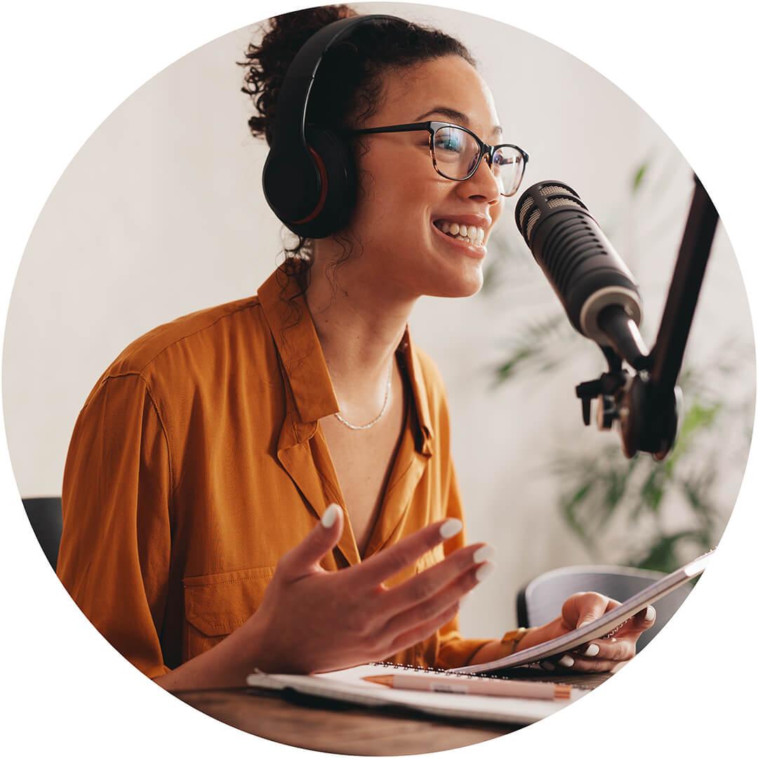 Black female entrepreneur podcasting